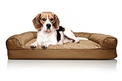 FurHaven Medium Quilted Orthopedic Sofa Pet Bed for Dogs and Cats, Warm Brown