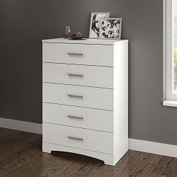 South Shore Gramercy 5-Drawer Chest, Pure White
