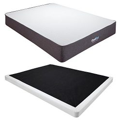 Classic Brands Cool Gel Ventilated Gel Memory Foam 10.5-Inch Mattress with 4-Inch Low Profile In ...