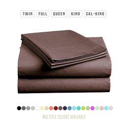 Luxe Bedding Sets – Microfiber California King Sheets Set 4 Piece, Pillow Cases, Deep Pock ...