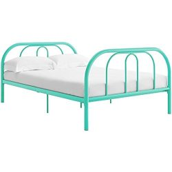 Mainstays Full Metal Rainbow Metal Bed and Daybed, Teal