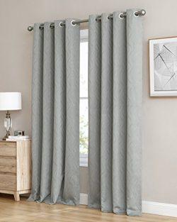 HLC.ME Camden 100% Blackout Thermal Window Curtain Grommet Panels – Energy Efficient, Comp ...