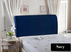 WOMACO Bed Headboard Slipcover Protector Stretch Solid Color Dustproof Cover for Bedroom Decor & ...