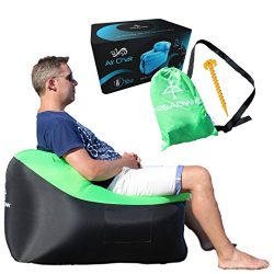 Air Chair by TREADWAY. Rapid inflation, compact/lightweight, inflatable air filled beach/camping ...