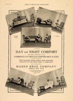 1919 Ad Maher Bros Daybed-Davenport-Bed Suite Models – Original Print Ad
