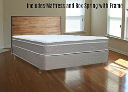 Spinal Solution Fully Assembled Orthopedic Mattress and Box Spring with Frame