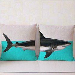 Foreverstore 2Pcs Cotton Linen Pillow Case Animal Creative Pillowcase Chair Seat Waist Square Pa ...