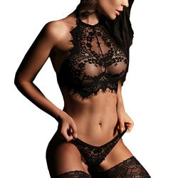 Clearance, YANG-YI Women Lingerie Fashion Lingerie Lace Flowers Push Up Top Bra Pants Underwear  ...
