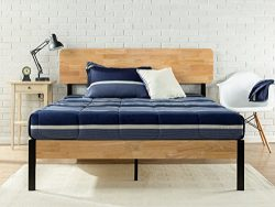 Zinus Tuscan Metal & Wood Platform Bed with Wood Slat Support, Twin