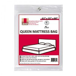 UBOXES Moving Supplies Queen Size 90″ x 15″ x 61″  Inches 2 MIL Heavy Duty Pol ...