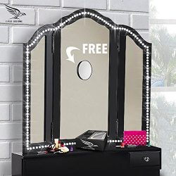 Vanity Lights – With FREE 10X MAGNIFYING MIRROR – Hollywood Style Make Up LED Light  ...
