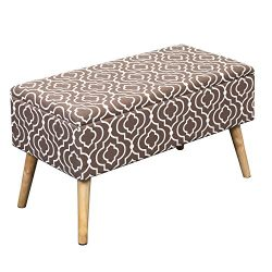 Otto & Ben 30″ Storage Ottoman Bench with EASY LIFT Top, Upholstered Shoe Ottomans for ...
