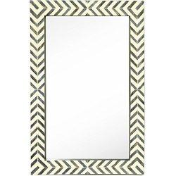 New Contemporary Herringbone Pattern Modern Wall Mirror | Vanity Bedroom or Bathroom 24″ x ...