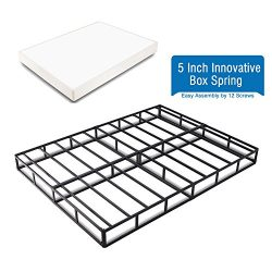 Heavy Duty 5 Inch Innovative Box Spring/ Strong Steel Structure Mattress Foundation (Easy Assemb ...