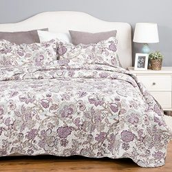 Spring Bedding Quilt Set Luxury Bedroom Bedspread Pastoral Floral Pattern Full/Queen Size 90R ...