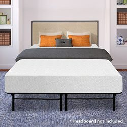Best Price Mattress 12″ Memory Foam Mattress and 14″ Premium Steel Bed Frame/Foundat ...