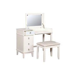 Linon AMZN0278 Vanity Set, White