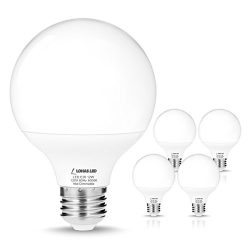 LOHAS G25 Daylight 5000k LED Bulbs, 75W-100W Equivalent(12W Incandescent Bulbs Replacement), E26 ...