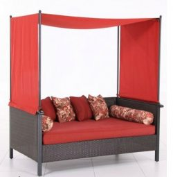 Providence Outdoor Day Bed, Red