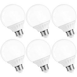 LOHAS G25 LED Globe Bulb Light, 6W Daylight Bedroom Vanity Light Bulbs, 45 Watt Incandescent Bul ...