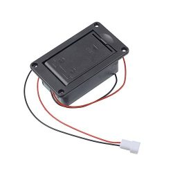 GETMusic Active Bass Guitar Pickup 9V Battery Boxs/Holder/Case/Compartment Cover With Metal Cont ...