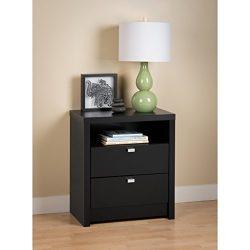 Black Series 9 Designer – Tall 2 Drawer Nightstand