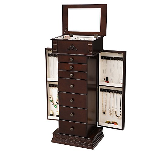 Songmics Large Jewelry Armoire Cabinet Standing Storage