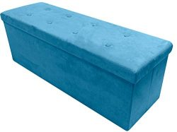 Sorbus Storage Ottoman Bench – Collapsible/Folding Bench Chest with Cover – Perfect Toy and Shoe ...