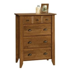 Sauder 410288 Shoal Creek 4-Drawer Chest, Oiled Oak Finish