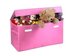 Toy organizer JUMBO Collapsible Toy Chest for Kids (XX-Large), Huge Storage Basket w/ Flip-Top L ...