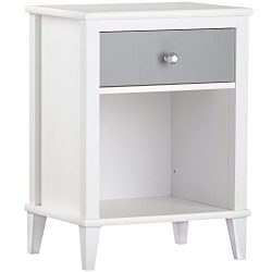 Little Seeds Monarch Hill Poppy Nightstand, White/Gray