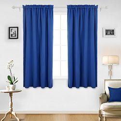Deconovo Blue Blackout Curtains Thermal Insulated Bedroom Curtains Window Curtains for Boys Room ...
