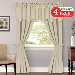 H.VERSAILTEX (Set of 6) Blackout Curtains Panels for Bedroom – Ultimate Luxury and Soft Wi ...