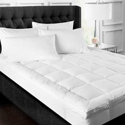 Upper East Collection 3 Inch Down Alternative Featherbed Mattress Topper – Ultra Plush 3&# ...