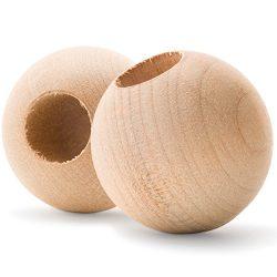 Wood Dowel Caps – 1-1/4″ Diameter With 1/2″ hole – Dowel Rod Caps For 1/ ...