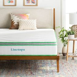 LINENSPA 10 Inch Latex Hybrid Mattress – Supportive – Responsive Feel – Medium ...