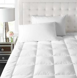 Park Hotel Collection 2 Inch Down Alternative Featherbed Mattress Topper – Ultra Plush 100 ...
