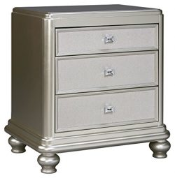 Ashley Furniture Signature Design – Coralayne Nightstand – Exquisite Hollywood Regen ...
