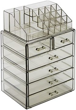Sorbus Acrylic Cosmetic Makeup and Jewelry Storage Case Display – Spacious Design –  ...