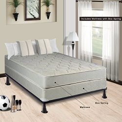 Spring Solution Mattress, 9-Inch Fully Assembled Orthopedic Back Support Full XL Mattress and Bo ...