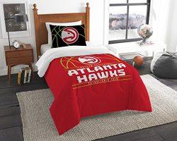 Officially Licensed NBA Atlanta Hawks Reverse Slam Full/Queen Comforter and 2 Sham Set