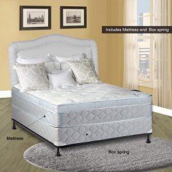 Continental Sleep 10″ Pillowtop Eurotop , Fully Assembled Othopedic Full Mattress & Bo ...