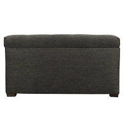 MJL Furniture Designs Angela Collection Button Tufted Upholstered Lift Top Medium Sized Bedroom  ...