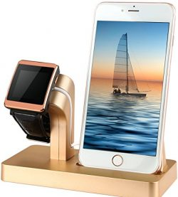 GPCT Apple Watch/iWatch/iPhone Charging Stand Cradle Holder Dock Nightstand Station [2 in 1]- iP ...