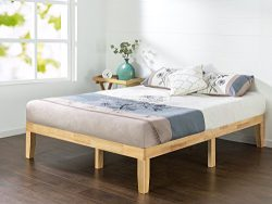 Zinus 14 Inch Wood Platform Bed / No Boxspring Needed / Wood Slat Support / Natural Finish, Twin
