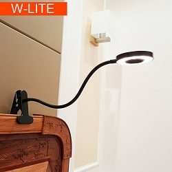 6W LED USB Dimmable Clip on Reading Light,Clip Laptop Lamp for Book,Piano,Bed Headboard,Desk,Eye ...
