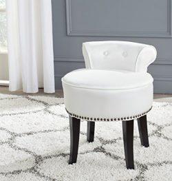 Safavieh Mercer Collection Georgia Vanity Stool, White