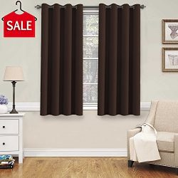 H.Versailtex Blackout Thermal Insulated Curtains for Bedroom /Living Room, 52″ Wide x 63&# ...