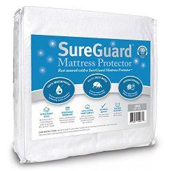 Crib Size SureGuard Mattress Protector – 100% Waterproof, Hypoallergenic – Premium F ...