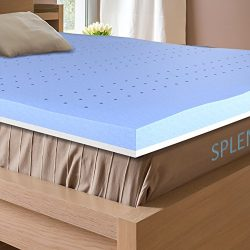 Splendoress 3 Inch Mattress Topper Queen Size – Hypoallergenic Cooling Gel Memory Foam and ...